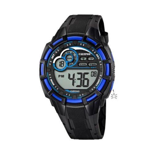 Orologio Calypso Digitale Uomo Orologio K5625/2 Orologio maschile digitale. Ilcinturino in resina nero e la cassa di diametro 41 mm . Inoltre il vetro plastica . Le Funzioni di questo modello sono funzioni: allarme, conto alla rovescia/ countdown, cronografo, luce led .