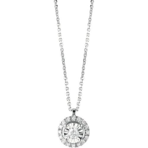 Collana Bliss Dream donna 20085615 della collezione Sole, realizzata in oro bianco 750/1000 e diamanti ct. 0,07 col Gh. La collana misura 42 cm.