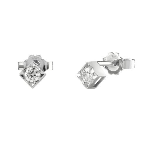 Orecchini Bliss Dream donna 20077230 realizzati in oro bianco 750/1000 e diamanti ct 0,16.