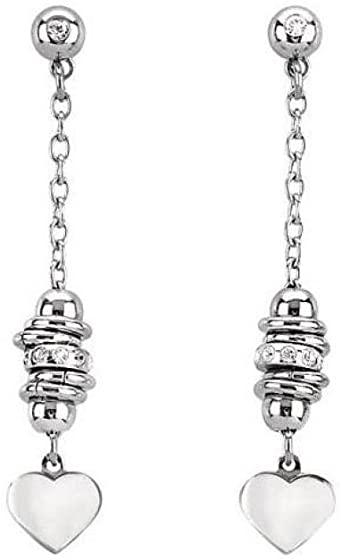 Orecchini Donna San Valentino 2Jewels 261080 della collezione San Valentino.Orecchini pendenti in acciaio inossidabile con cuori e zirconi .