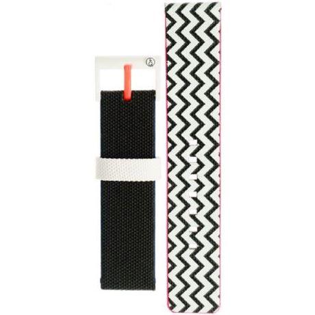 Cinturino per orologi Smile Solar 59-PB0963J unisex in nyoln colori bianco e nero