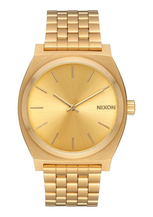 Orologio Nixon Analogico Gold Unisex A045511. Orologio elegante per il suo colore e il desing. Presenta cassa e cinturino sono realizzati in acciaio inox con il diametro di 37 mm. Interamente gold pvd e la resistente fino a 100 m di profondità.