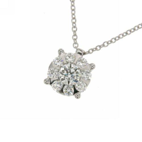 Collana Donna Mirco Visconti AB641/7 . Collana realizzata in oro 18KT . Questo gioiello presenta diamanti di ct 0.12 col G VS.