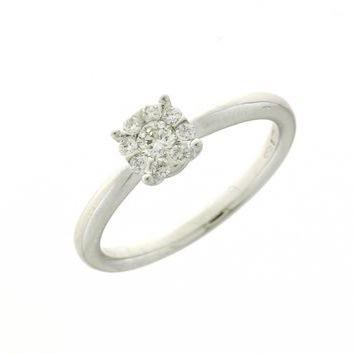 Anello Donna Mirco Visconti AB642/15 . Anello con diamanti realizzato in oro 18KT . Questo gioiello presenta diamanti di ct 0.13 e ct 0,13 col G VS.