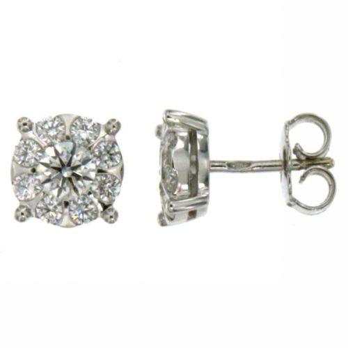 Orecchini Mirco Visconti AB647/3. Orecchini realizzati in oro 18KT . Questo gioiello presenta diamanti di ct 0.08 col G VS.