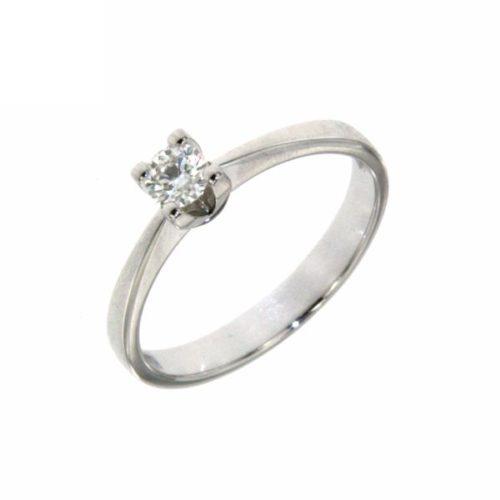 Anello Donna Mirco Visconti AL552/30. Anello con diamanti realizzato in oro 18KT . Questo gioiello presenta diamanti di ct 0.23 G VS