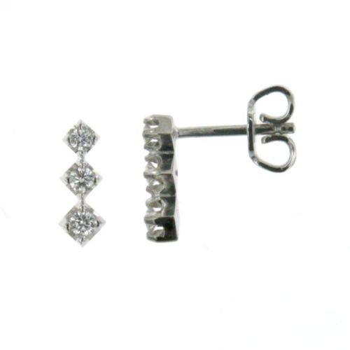 Orecchini Diamanti Mirco Visconti BN28/10. Orecchini diamanti realizzati in oro 18KT . Questo gioiello presenta diamanti di ct 0,21 G VS.