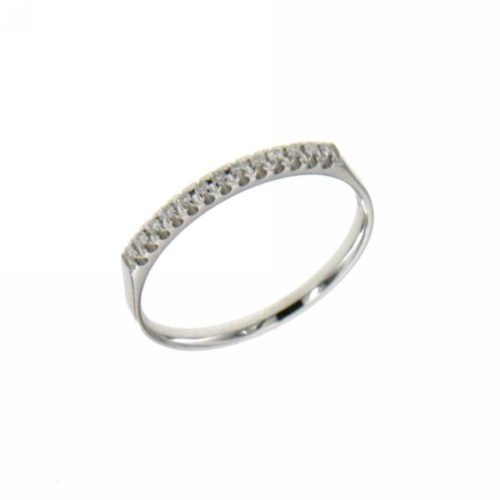 Anello Riviere Mirco Visconti BN046/EK10. Anello Riviere realizzato in oro 18KT . Questo gioiello presenta diamanti di ct 0.06 col G VS.