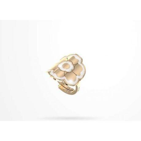 Anello donna rebecca collezione Passion BPSAOB03. Anello in bronzo a forma di fiore con profili in glam film e gambo regolabile