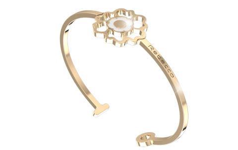 Bracciale donna rebecca BPSBOB03 bracciale in bronzo rodiato colore oro