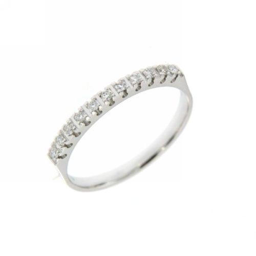 Anello Riviere Mirco Visconti DS081/EI20. Anello Riviere realizzato in oro 18KT . Questo gioiello presenta diamanti di ct 0.12 col G VS.
