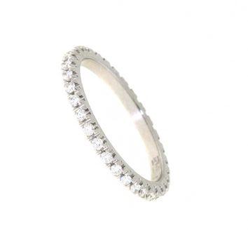 Anello Girodito Mirco Visconti DS118/20 . Anello Girodito realizzato in oro 18KT . Questo gioiello presenta diamanti di ct 0.41 col G VS.