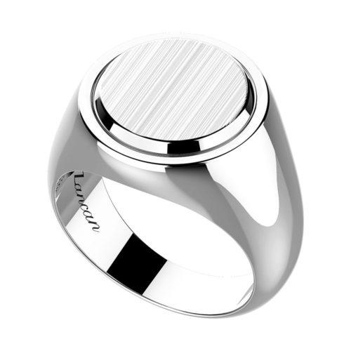 Anello da Uomo Zancan in argento con placca satinata, della collezione Classic Rings Gioiello realizzato in argento 925 anallergico (10.9 gr) Placca rotonda in argento satinato