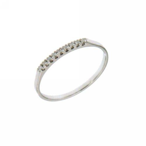 Anello Riviere Mirco Visconti LE15/EG3. Anello Riviere realizzato in oro 18KT . Questo gioiello presenta diamanti di ct 0.04 col G VS.