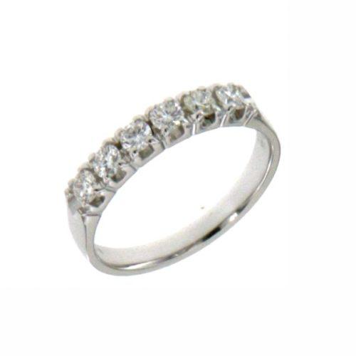 Anello Donna Mirco Visconti LE42/ED10. Anello con diamanti realizzato in oro 18KT . Questo gioiello presenta diamanti di ct 0,46 col G VS.
