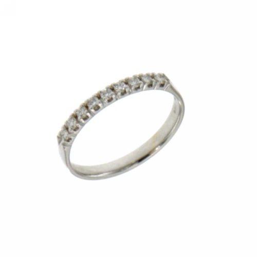 Anello Riviere Mirco Visconti BN046/EE020. Anello Riviere realizzato in oro 18KT . Questo gioiello presenta diamanti di ct 0.22 col G VS.