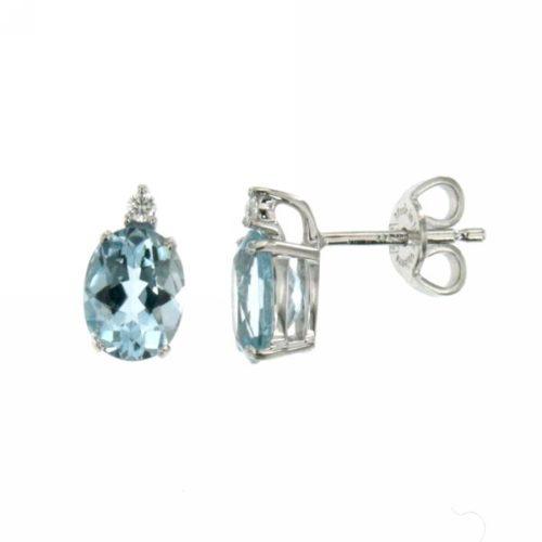 Orecchini Acquamarina Mirco Visconti LF255/10AC. Orecchini con pietra acquamarina e diamanti realizzati in oro 18KT . Questo gioiello presenta diamanti ct 0,04 G VS e pietra acquamarina ct 2,27.