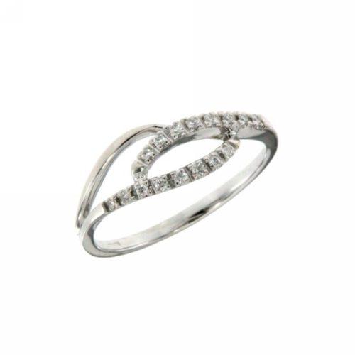 Anello Mirco Visconti LF266. Anello realizzato in oro 18KT . Questo gioiello presenta diamanti di ct 0.08 col G VS.