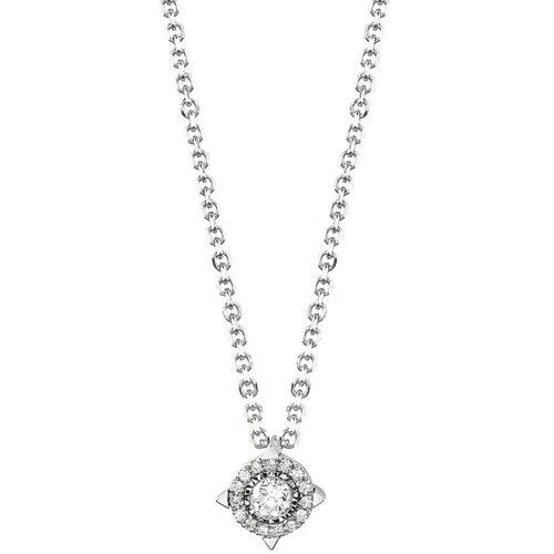 Collana Bliss Lumina donna 20077815 della collezione Lumina, realizzata in oro bianco e diamanti ct 0,08 col Gh. La collana misura 42 cm.