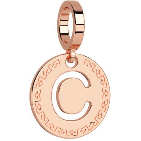 Charm Rebecca My world donna in bronzo rodiato di colore rosè con lettera C