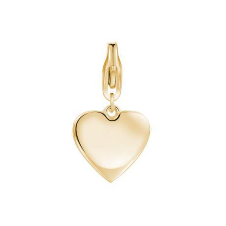 Charm S'agapò donna della collezione Happy sha284. charm a forma di cuore in acciaio, colore oro