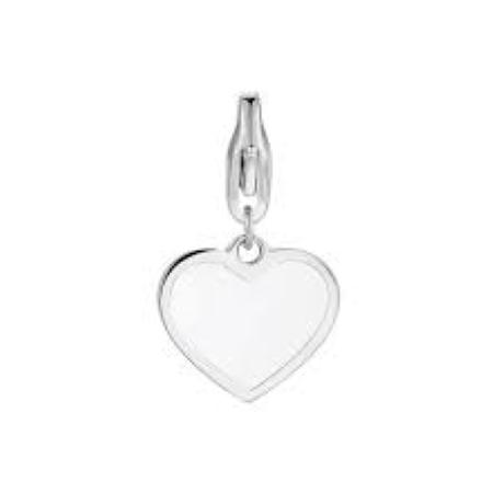 Charm S'agapò donna della collezione Happy sha301 charm in acciaio con cuore colore silver e smalto bianco