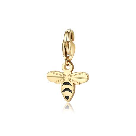 Charm S'agapò donna della collezione Happy sha351 charm a forma di ape in acciaio, colore oro