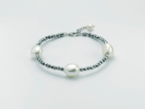 Bracciale Yukiko Perle Donna PBR2917Yin argento, con perle e ematite.