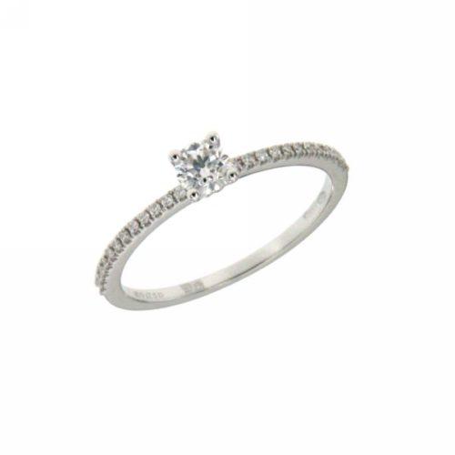 Anello Donna Mirco Visconti Z471/30. Anello con diamanti realizzato in oro 18KT . Questo gioiello presenta diamanti di ct 0.24 G VS e ct 0,09 col G.