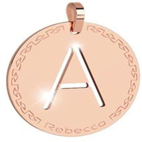 Charm Rebecca collezione myworld alphabet, in bronzo placcato oro rosa lettera A