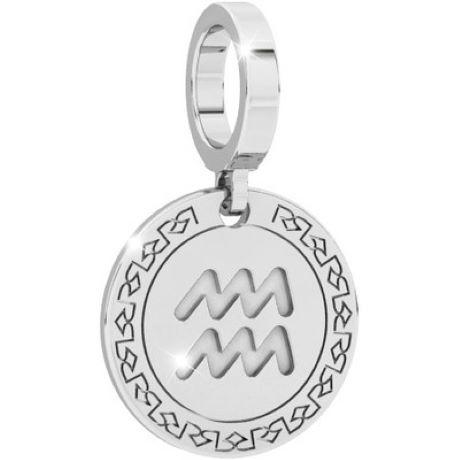 Charm Rebecca donna della collezione My World, in argento 925/1000 con segno zodiacale acquario inciso.