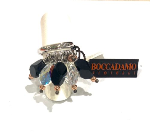 Anello Boccadamo donna AN389NER. Anello in argento con pietre Swarovski colorate.