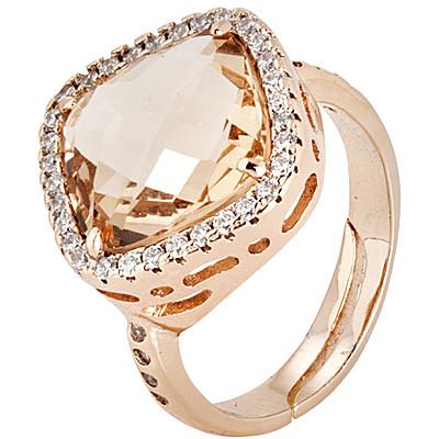 Anello Boccadamo donna XAN118RS.Anello realizzato in bronzo, placcato oro rosa con cristallo briolette pesca dal diametro di 1,5 cm contornato da splendidi cristalli bianchi. Quest'anello è facilmente regolabile.