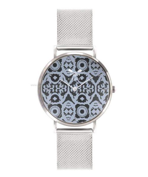 Orologio solo tempo Donna Barbosa 08SLMI-18SM080. Modello con cassa in acciaio Argentato e diametro 36,5 mm. Quadrante a fantasia e cinturino in acciaio argentato largo 18 mm. Fibia color Argentato.