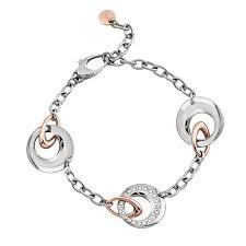 Bracciale Donna Promise 2Jewels 231208della collezione Promise . Bracciale realizzato in acciaio anallergico con cerchi bicolore.