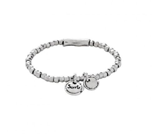 Bracciale Donna Uno de 50 PUL1597MTL0000S.Bracciale placcato in argento ed elastico base composto dall'unione di varie perline di forma arrotondata. Questo gioiello da Unode50 è fatto a mano in Spagna.