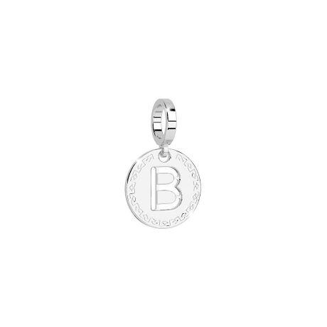 Charm Rebecca My world donna in bronzo rodiato di colore bianco con lettera B