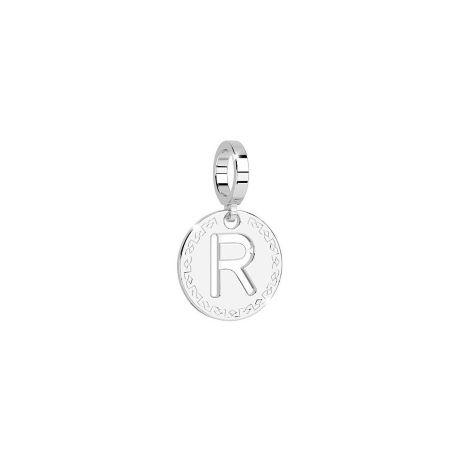 Charm Rebecca My world donna in bronzo rodiato di colore bianco con lettera R