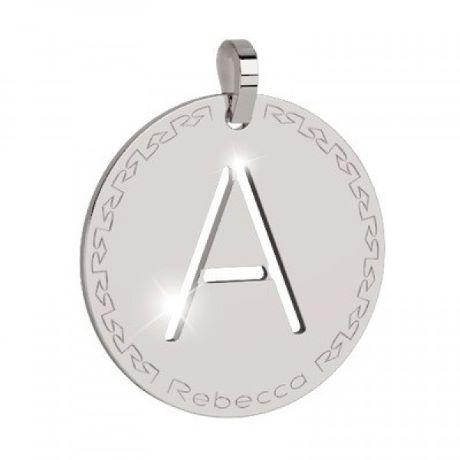 Charm Rebecca collezione myworld alphabet, in bronzo placcato bianco lettera A