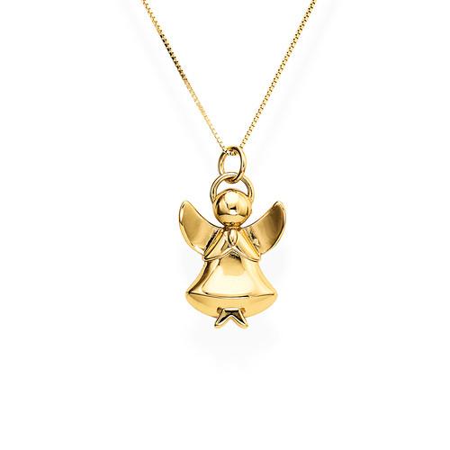 Collana Donna Amen A1G della collezione Naughty and Nice. Collana in argento 925 placcata oro giallo con ciondolo a forma di angelo alto 2,7 cm. Lunghezza 41 cm + 4 cm.
