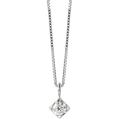 Collana Bliss Dream donna 20077224 della collezione Dream, realizzata in oro bianco 750/1000 e diamanti ct 0,1 col G. La collana misura 42 cm.