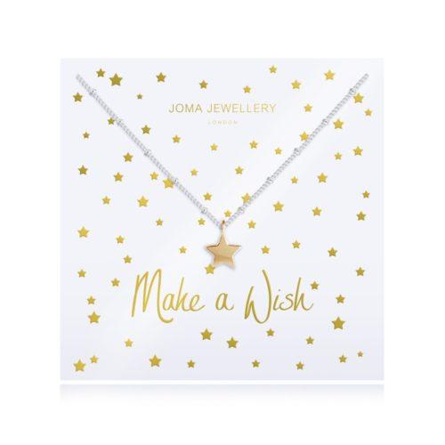 Collana donna Joma 2783. Collana in ottone placcato argento con catena sfaccettata scintillante e charme a forma di stella dorata.