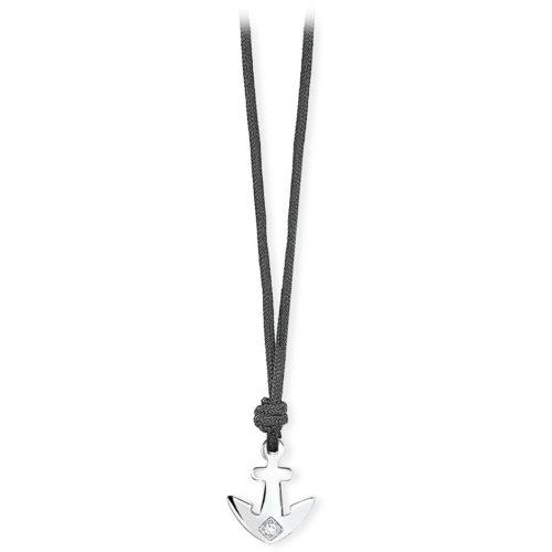 Collana Uomo Ikon 2Jewels 251541 della collezione Ikon. Modello realizzato in cordoncino 60 cm e pendente a forma di ancora in acciaio anallergico con pietra.