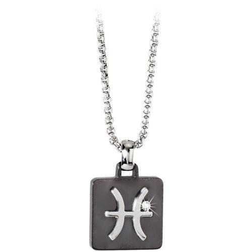 Collana Uomo Zodiac 2Jewels 251281 della collezione Zodiac. Collana realizzata in acciaio anallergico con pendete a piastrina del segno dei Pesci.