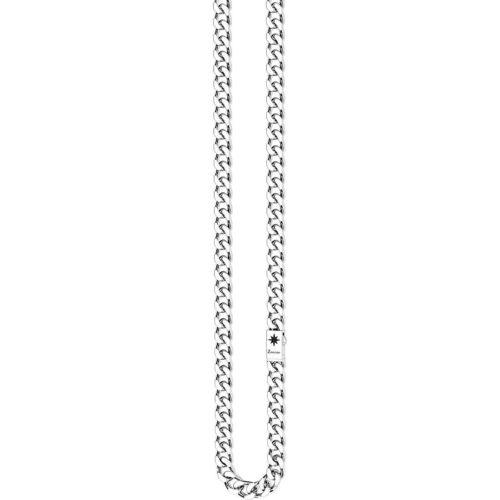 Collana uomo Zancan EXC472.Collana della collezione Cosmopolitan in argento 925 lavorata classica a grumetta, costituita da 78.00Gr di argento. Misura standard 50 cm. Chiusura a scatto con rosa dei venti brunita.