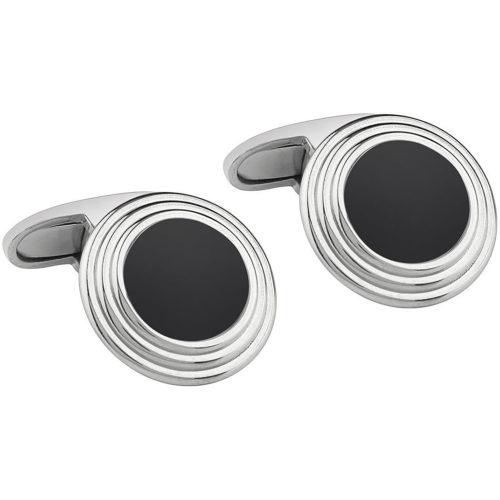 Gemelli Uomo Bliss 20081353 In argento 925 arricchito da oniche di colore nero.