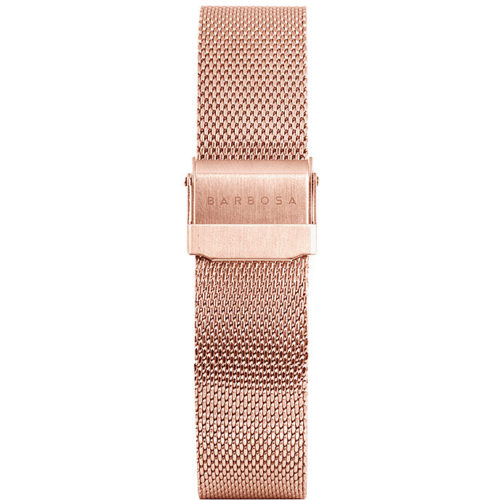 Cinturino Per Orologio Donna Barbosa 18RM079 della collezione Basic . Realizzato in acciaio Rosè pvd. Adatto per casse di dimensione 37 mm. La larghezza del cinturino è di 18 mm . La maglia è Milano.
