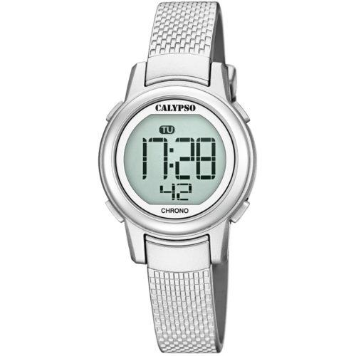 Orologio Calypso Digitale Uomo K5736/1 della collezione Digital Crush. Questo modello è realizzato con cassa in plastica di dimensione 29 mm. Display digitale e cinturino in gomma . Orologio Con Chiusura Ad Ardiglione e inoltre la resistenza all' acqua di questo orologio è di 10 atm.