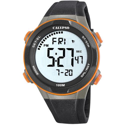 Orologio Calypso digitale uomo K5780/3della collezione Digital For Man . Modello con cassa in plastica di forma rotonda con indici dipinti. Questo orologio ha il cinturino in gomma con movimento Mnk-1B . La resistenza di questo modello è di 5 Atm .