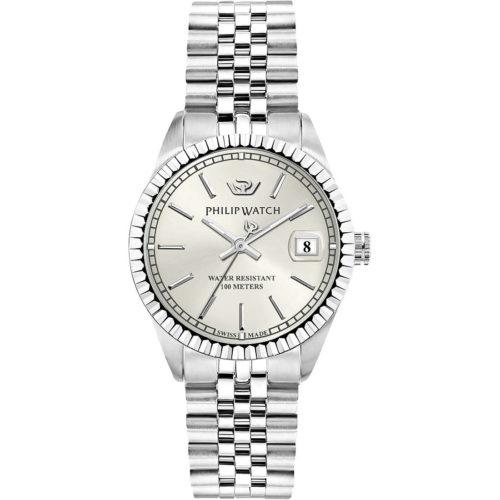 Orologio Philip Watch Solo Tempo Donna Caribe R8253597543 . Orologio della collezione Trendy. L'orologio pesenta quadrante di colore argento Bianco Brillante.